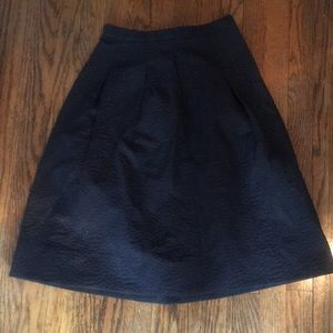 H&M Pleated Textured A-Line Skirt